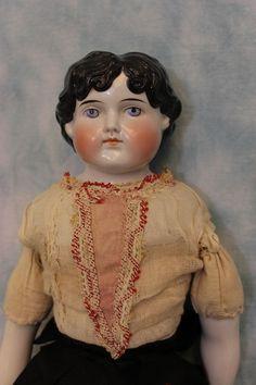 """старинный 22 """"ABG 1046 год Китай голова куклы Alt, Бек & gottschalck 1870"""