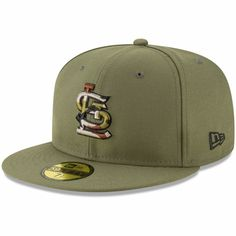 free shipping 4beb0 71b62 Men s St. Louis Cardinals New Era Olive Camo Trim 59FIFTY Fitted Hat,  36.99