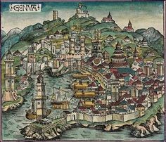 Ancient Map of Genoa. Corsican Revolution: tried to free corsica of Genoese rule