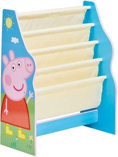 Peppa Pig Boekenrek. In dit boekenrek van Pegga Pig is voldoende ruimte om al je boeken en tijdschriften op te bergen. Op de boekenkast zelf is een leuke afbeelding van Peppa Pig te zien. De boekenkast is voorzien van de volgende afmetingen: 60x23x51 centimeter. Geschikt voor jongens en meisjes.Afmetingen: 60 x 23 cm (lxb) - Boekenrek Peppa Pig: 60x23x51 cm