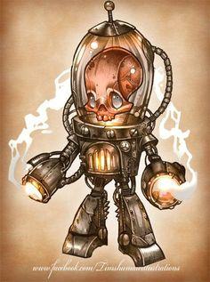 'Chamber' 10 of 100 monsters Cartoon Pics, Cartoon Characters, Artwork Design, Design Art, Classy Wallpaper, Punk Tattoo, Goat Art, Creepy Cute, Disney Tattoos