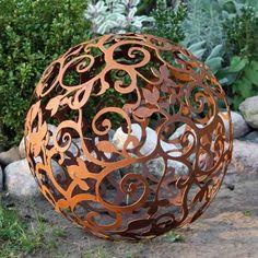 edelrost-barockkugel-50-cm-kugel-rost-eisen-metall-deko-garten, Gartenarbeit ideen