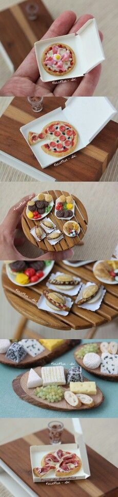 Handmade Miniature Meals, it's so cute Hobbies And Crafts, Arts And Crafts, Tiny Food, Miniature Food, Cute Dolls, Food Items, Flower Crafts, Fun Drinks, Polymer Clay