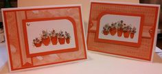 Note Cards made with Tapestry little bitty Rubber Stamp Sets
