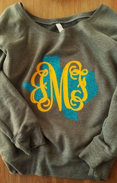 My Favorite Glitter State Sweatshirt EVER! You must buy this slouchy wideneck fleece to wear with your jeans. Bella+ Canvas 8.2 oz Slouchy Wideneck