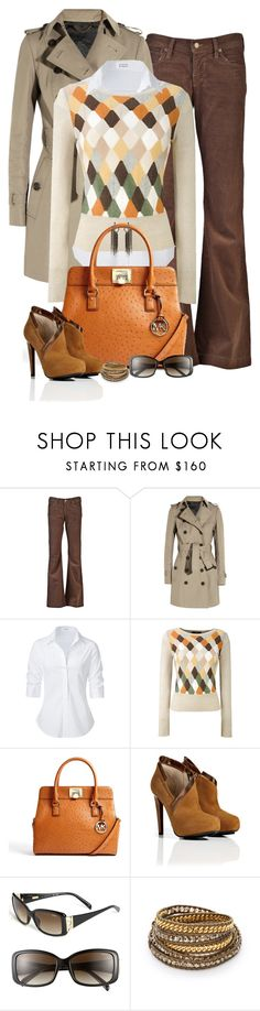 """""""Michael Kors Bag Contest (II)"""" by partywithgatsby ❤ liked on Polyvore featuring Citizens of Humanity, Burberry, Steffen Schraut, MaxMara, MICHAEL Michael Kors, BURAK UYAN, Fendi, Chan Luu and Erickson Beamon"""