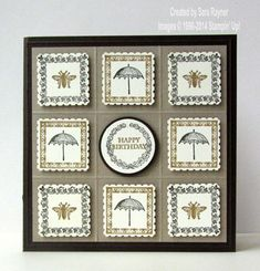 Postage collection using Stampin' Up! supplies. #stampinup-can't wait to make this one..