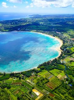 hanalei bay from above, Hawaii