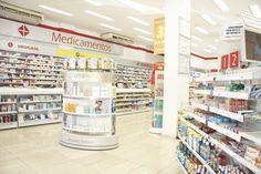 Exposição correta para medicamentos em farmácias e drogarias.