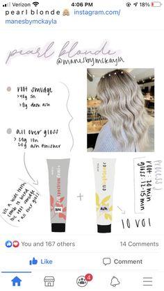 Aveda Hair Color, Hair Colour, Hair Inspo, Hair Inspiration, Grey Ombre Hair, Hair Color Formulas, Hair Color Techniques, Hair Ideas, Blonde Hair
