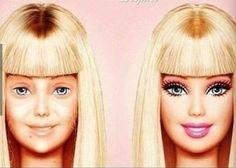 No Make-Up Barbie! Oh snap!