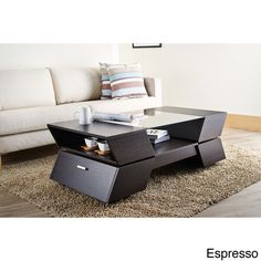 Furniture of America Anjin Enzo Contemporary Two-tone Multi-storage Coffee Table - Overstock Shopping - Great Deals on Furniture of America Coffee, Sofa & End Tables