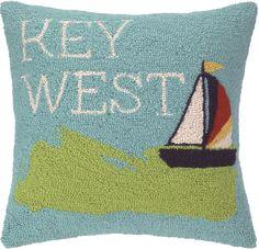 Take Me to Key West Hook Pillow: Beach House Decor, Coastal Decor, Nautical Decor, Coastal Living Boutique, Tropical Decor