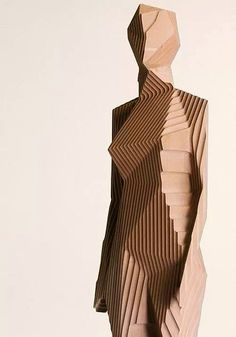 Xavier Veilhan, Woman Sculpture on ArtStack Cardboard Sculpture, Cardboard Art, Wood Sculpture, Metal Sculptures, Human Sculpture, Abstract Sculpture, Geometric Sculpture, Contemporary Sculpture, Contemporary Art