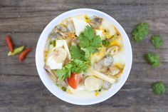 Tom Kha Recipe (with Tofu).  OMG.  This is what I miss from San Francisco!  And now I have my own authentic recipe.  Originally came from Round House Bungalows Koh Lanta. YES!