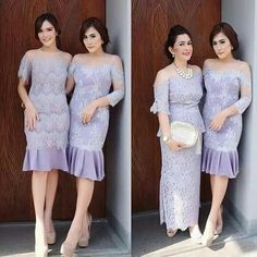 Dress Brokat Modern, Kebaya Modern Dress, Kebaya Dress, Dress Pesta, Dress Brukat, Batik Dress, Lace Dress, Pretty Dresses, Beautiful Dresses