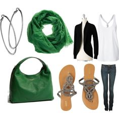 Another great weekend outfit.  Add some heels for a casual dinner.