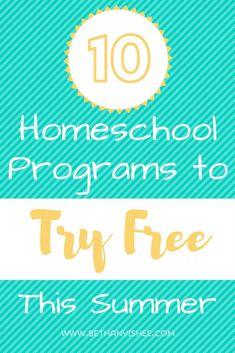 10 Homeschool Progra