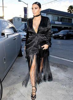 79c97a5ea1e9d Pregnant Kim Kardashian shows off VERY ample cleavage