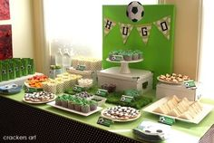 Sports sweets table