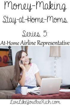 Series How to Make Money as an At-Home Airline Representative. The other parts of the series are full of great ideas too. make money from home, make extra money Work From Home Moms, Make Money From Home, Make Money Online, Saving Ideas, Money Saving Tips, Money Hacks, Ways To Save Money, How To Make Money, Financial Tips