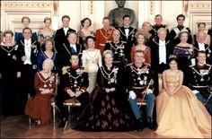 The 25th anniversary of Queen Margrethe of Denmark's crowning In Copenhagen Denmark On January 14 1997