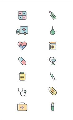 New Medical Design Logo Icon Set Ideas Web Design, Icon Design, Flat Design, Icon Set, Hospital Icon, Medical Wallpaper, Health Icon, Medical Icon, Medical Care