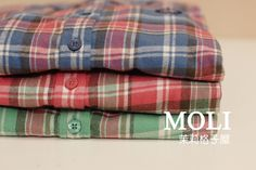 Autumn/winter   orders the original single small fresh thick suede cultivating fine Plaid flannel long sleeve shirt