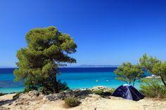 Namiot i camping w Grecji