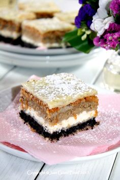 Međimurska gibanica (Medjimurian layer cake) is a type of gibanica or layer cake originating from Međimurje County, Croatia. It is made with four fillings: a cheese, poppyseed, apple, and nut filling. It is popular in Northern Croatia.