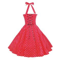 Maggie Tang Vintage Women's 1950s dots Rockabilly at Amazon Women's Clothing store: