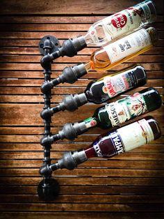 Customizeable Industrial Wine Rack