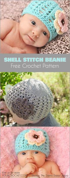 This easy, quick and eye-catching beanie will be a perfect project for a baby shower gift. #freecrochetpattern #freecrochet #crochet3 #easycrochet #patterncrochet #crochettricks #crochetitems #crocheton #thingstocrochet