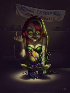 Poison Ivy and Audrey II by Ricardo Chucky / Blog