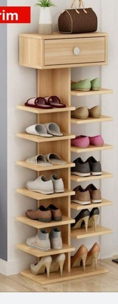Shoe closet storage house 44 Ideas for 2019 Garderobe Design, Diy Furniture, Furniture Design, Furniture Projects, Diy Casa, Shoe Organizer, Closet Storage, Shoe Closet, Closet Tour