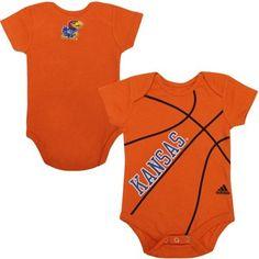 Kansas Jayhawks Infant Fan-Atic Basketball Creeper – Orange