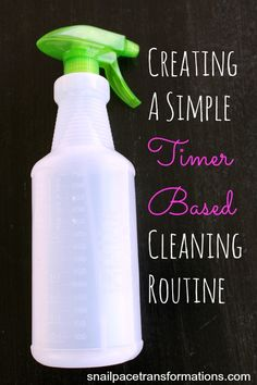 How to make a cleaning schedule based on time you have available instead of tasks that need completed. This really works!