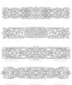Retro Borders and Ornaments #GraphicRiver Retro bo... - #Bo #Borders #GraphicRiver #icon #Ornaments #retro