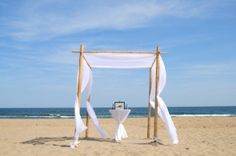 Beautiful BAMBOO wedding arbor :  wedding arbor arch bamboo beach ceremony diy other outdoor wedding Bamboo 2