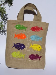 Burlap Large Tote bag Eco friedly summer project for gus?