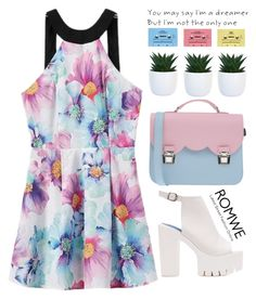 """Pastels!"" by m-zineta ❤ liked on Polyvore featuring La Cartella, CASSETTE, outfit, floral, romwe, stylish and pastel"