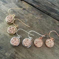 Druzy Earrings Rose Gold Druzy Earrings Druzy by julianneblumlo