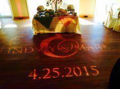 Custom dance floor monogram