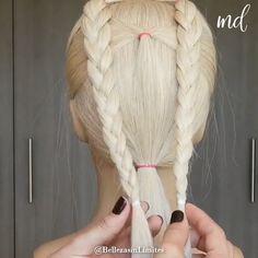 Front Hair Styles, Medium Hair Styles, Natural Hair Styles, Pretty Hairstyles, Braided Hairstyles, Hairdo For Long Hair, Hair Sketch, Doll Hair, Hair Tools