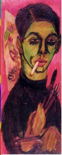 Ernst Ludwig Kirchner - Selbstbildnis (1913).