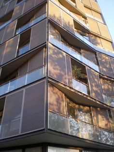 Sliding louvered shutters in and outside balconies by OAB [240] | filt3rs via Pocket IFTTT Pocket balcony protection facade November 28 2015 at 07:24PM
