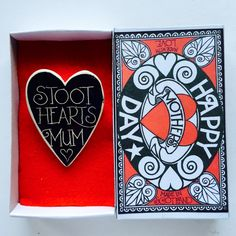 The perfect Mothers Day present. Hand made by Susan McGill and only sixteen on sale at her website. Mothers Day Presents, Black And White, Happy, Handmade, Website, Craft, Box, Design, Hand Made