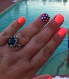 Polka Dots & Neon, Fun Summer Nails