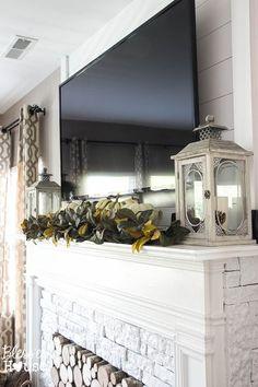 Floral Fall Mantel | Home Decor Autumn 2017 | Pinterest | Kaminsims, Deko  Trends Und Trends