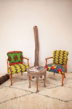 Dutch Wax resist upholstered chairs from Shelby George Home Baby Furniture Sets, Furniture Direct, Funky Furniture, Furniture Dolly, Cheap Furniture, Discount Furniture, African Interior Design, African Design, African Textiles
